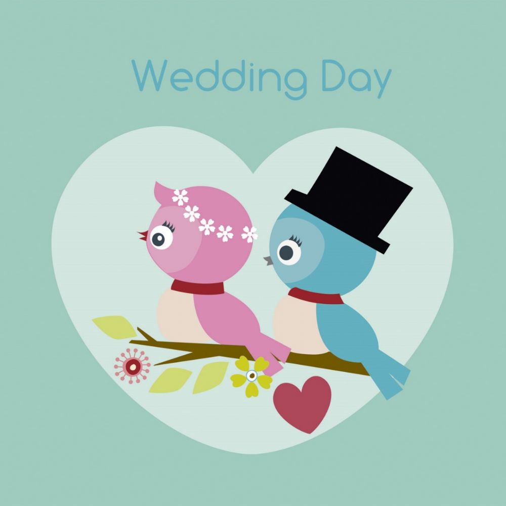 On Your Wedding Day Card Lovebirds